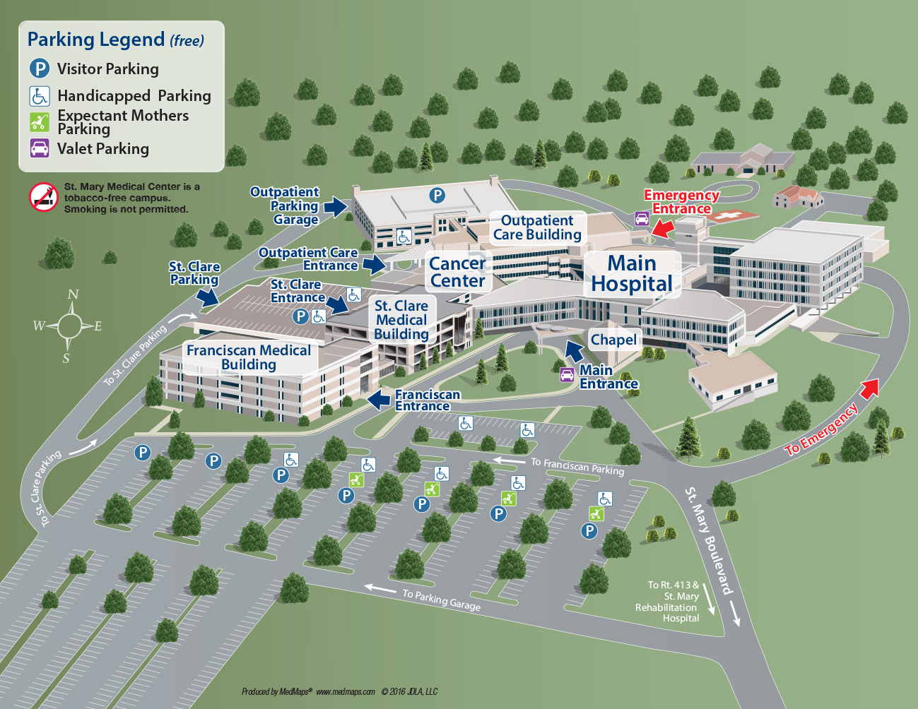 Hobart Campus Map.St Mary Medical Center