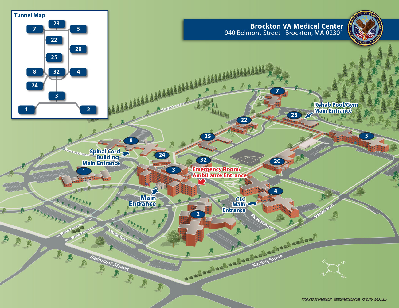 Brockton Va Campus Map.Brockton Va Medical Center