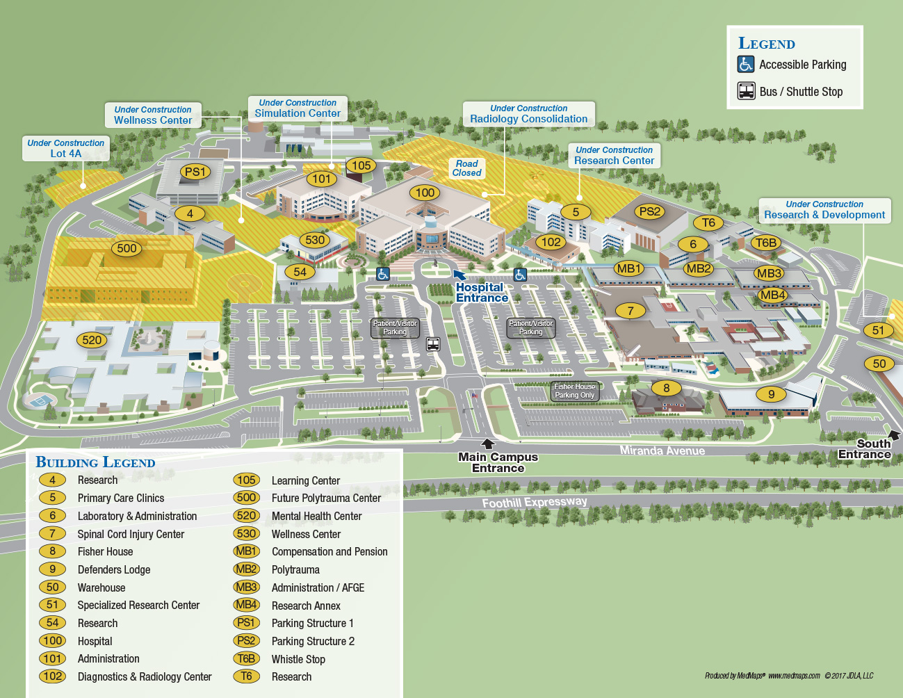 Va Palo Alto Interactive Map