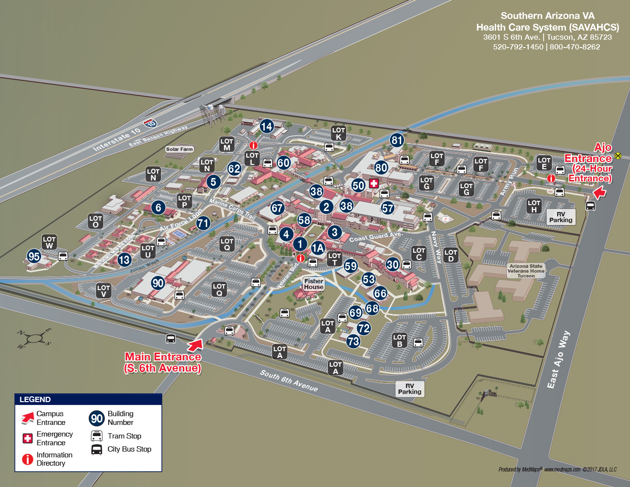 Southern Arizona VA Health Care System Interactive - Va map