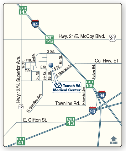 vicinity map examples interactive map tomah va medical center